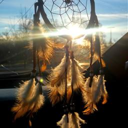 dreamcatcher sunrays feathers