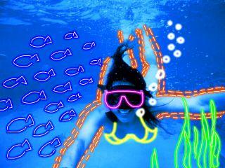 wapneonoutlines diving remixed