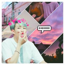 namjoon bts cute pink spechbubble