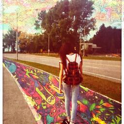 trippy longboard art psychedelic mushrooms