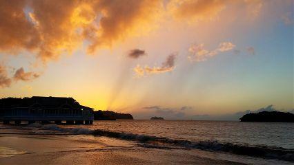 halcyon saintlucia sandals sunset beach