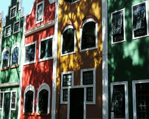 colorful photography houses windows taking