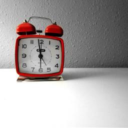 freetoedit red minimalism clock photography