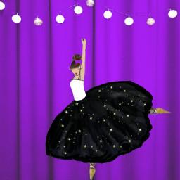 freetoedit ballerina purple glitter dailyremixmechallenge