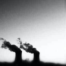 freetoedit nuclearpowerplant pennsylvania blackandwhite blacksmoke