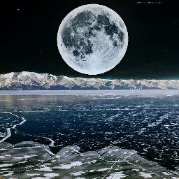 edited doubleexposure madewithpicsart moon mountain