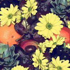 fruits flowers apples oranges pineapple freetoedit