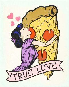 truelove pizza cheese freetoedit pepperoni