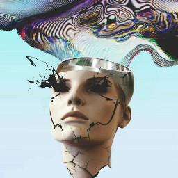 freetoedit robot face dreamheadremix