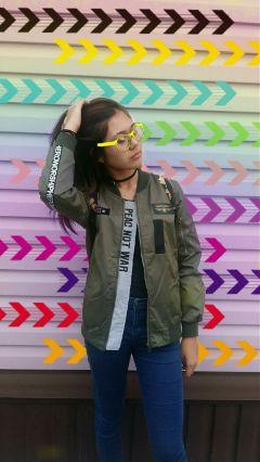 freetoedit girl colors street arrows
