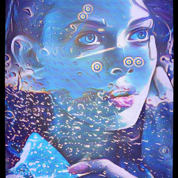 freetoedit blue pretty vangoughinspired portiaitedit