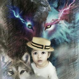 freetoedit remix#wolves fantasy mezclas artisticeffect